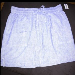 NWT OLD NAVY LINEN SKIRT. Blue and white - SIZE SM